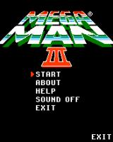 Mega Man 3 J2ME Main menu