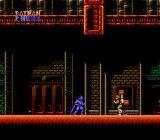 Batman: The Video Game NES Facing an enemy.