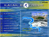 Kayak Extreme Windows Main Menu