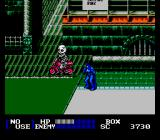 Batman Returns NES Fighting a motocycle guy
