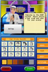 Family Feud: 2010 Edition Nintendo DS Customizing the avatar.