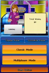 Family Feud: 2010 Edition Nintendo DS Menu screen.
