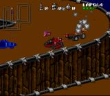 Rock n' Roll Racing SNES Using a mine to get rid of a follower