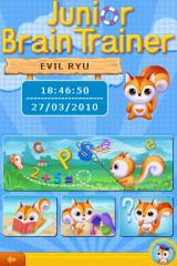 Junior Brain Trainer Nintendo DS Title screen with main menu.