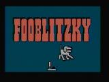 Fooblitzky DOS Title screen (CGA with composite monitor)