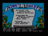 King's Quest PC Booter Title screen (CGA composite mode)
