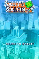 Sally's Salon Nintendo DS Title screen.