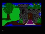 King's Quest PC Booter In front of the castle (CGA composite mode)