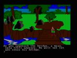 King's Quest PC Booter A troll bridge (CGA composite mode)