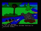 King's Quest PC Booter Yet another bridge... (CGA composite mode)