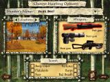 Deer's Revenge Windows Preparation Screen - choose the place, weapon and special ability to hunt with
