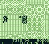 Burai Fighter Deluxe Game Boy Engaging the end boss.