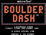 Boulder Dash ColecoVision Title screen