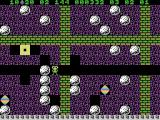 Boulder Dash ColecoVision You can push boulders out of the way if nothing is blocking them