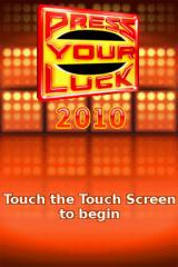 Press Your Luck: 2010 Edition Nintendo DS Title screen.