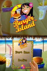 Burger Island Nintendo DS Title screen with main menu.