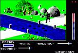 The Last Ninja Apple II River Crossing -- you need to land on those little stones