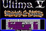 Ultima V: Warriors of Destiny Apple II Title Screen