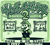 Game & Watch Gallery 2 Game Boy Title screen and main menu