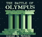 The Battle of Olympus Game Boy Title screen