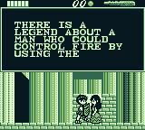 The Battle of Olympus Game Boy Talking to a person.
