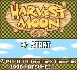 Harvest Moon GB Game Boy Color Title screen