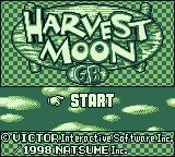 Harvest Moon GB Game Boy Title screen (English version)