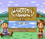 Harvest Moon GB Game Boy Title screen (Super Game Boy)