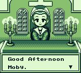 Harvest Moon GB Game Boy In the church.