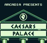 Caesars Palace Game Boy Title screen (US version)