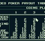 Caesars Palace Game Boy The payout table.