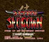 Samurai Shodown SNES Title Screen