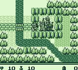Dragon Slayer Gaiden Game Boy Outside the village.