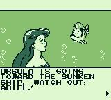 Disney's The Little Mermaid Game Boy The story for stage 2.