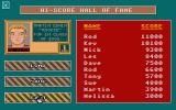 Airstrike USA Atari ST High score table