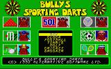 Bully's Sporting Darts Atari ST Title screen and main menu
