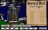 Dark Castle Atari ST Main menu