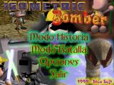 Isometric Bomber DOS Game menu
