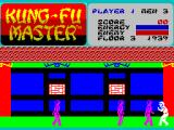 Kung-Fu Master ZX Spectrum Starting position at Level 1.