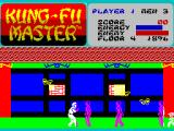 Kung-Fu Master ZX Spectrum Bees and tom toms at Level 4. Note the mixed colors at sprite collision.