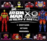 Iron Man / X-O Manowar in Heavy Metal Game Boy Title screen and main menu (Super Game Boy)