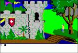 King's Quest Apple II Graham must leave the security of his castle behind.