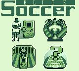 Elite Soccer Game Boy Main menu