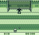 Elite Soccer Game Boy A game where a player tries to kick a goal while the goalie tries to block.