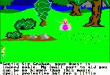 King's Quest Apple II Fairy casts a spell