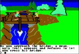 King's Quest Apple II Troll blocks the bridge... how did that fable go again?