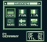 International Superstar Soccer Game Boy Playing an open game. Choose your teams.