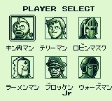 Kinnikuman: The Dream Match Game Boy Choose your fighter.