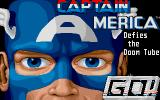Captain America in: The Doom Tube of Dr. Megalomann Atari ST Title screen