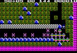 Boulder Dash Apple II Crushing the butterflies with a boulder turns them into diamonds